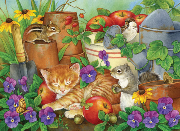 Let Sleeping Kittens Lie Cats Jigsaw Puzzle