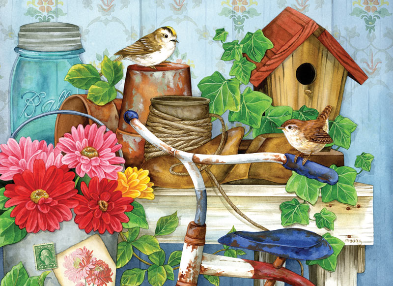 The Old Garden Shed Garden Jigsaw Puzzle