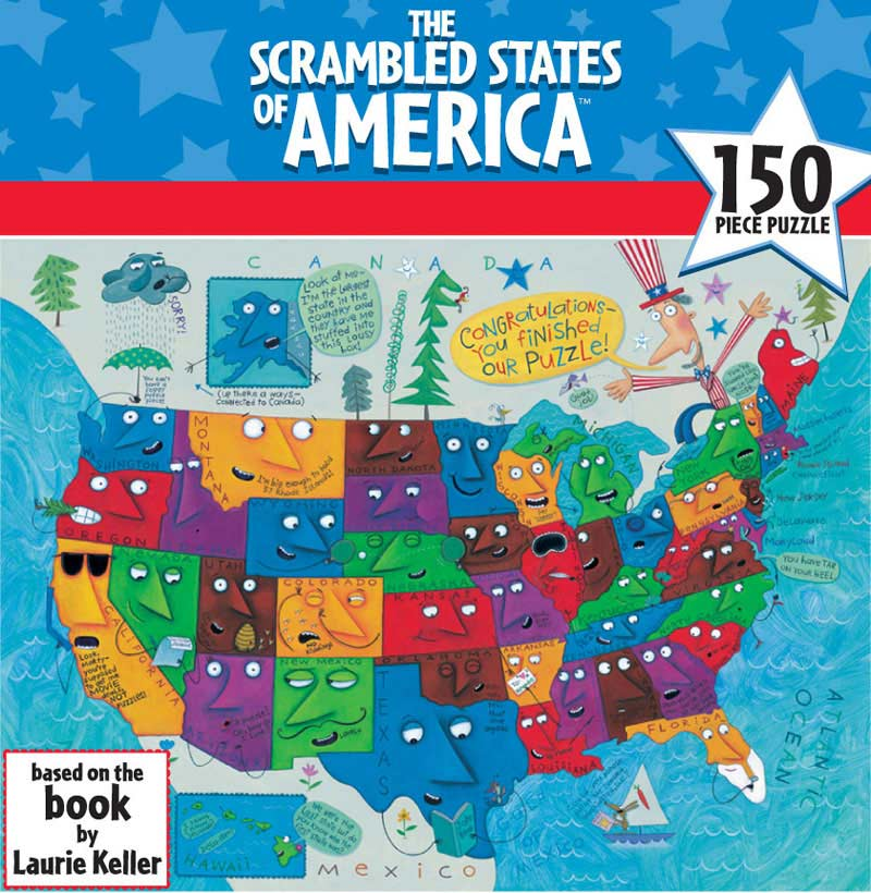 The Scrambled States of America Maps Children's Puzzles