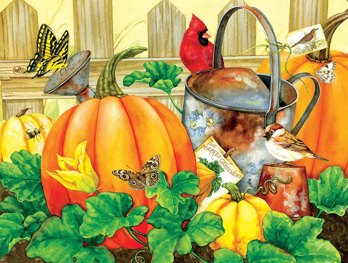 October Garden Birds Jigsaw Puzzle