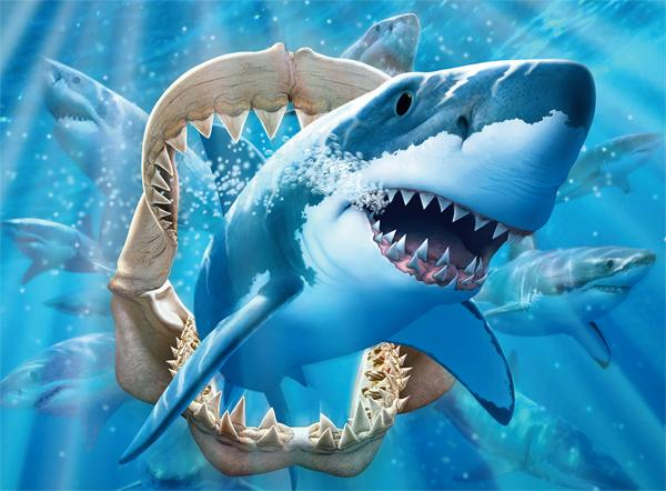 Great White Delight (Undersea) Under The Sea Glow in the Dark Puzzle