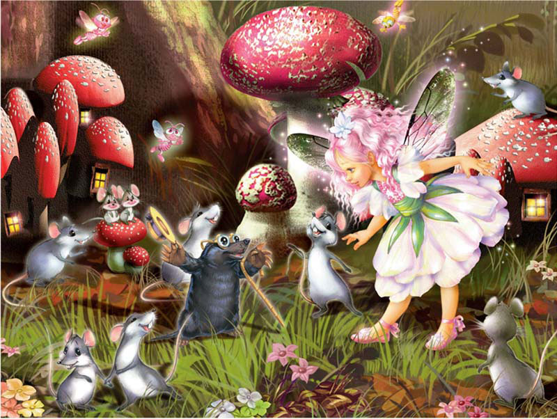 Gemstone Fairies - Meeting Mr. Mole Fairies Glitter/Shimmer/Foil