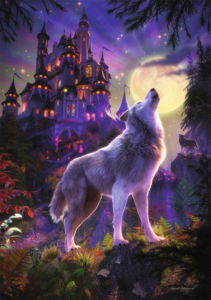 Moon Wolf Starline Glow Glow In The Dark Puzzle