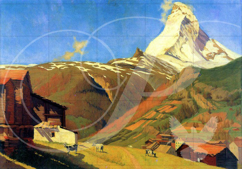 View of Zermatt Contemporary & Modern Art Wooden Jigsaw Puzzle