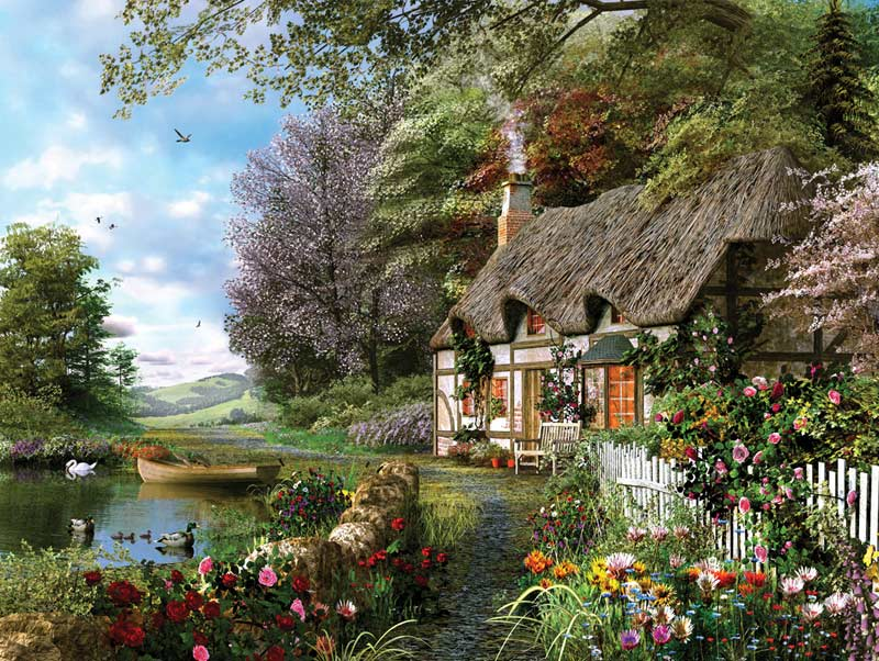 Country Cottage Countryside Jigsaw Puzzle