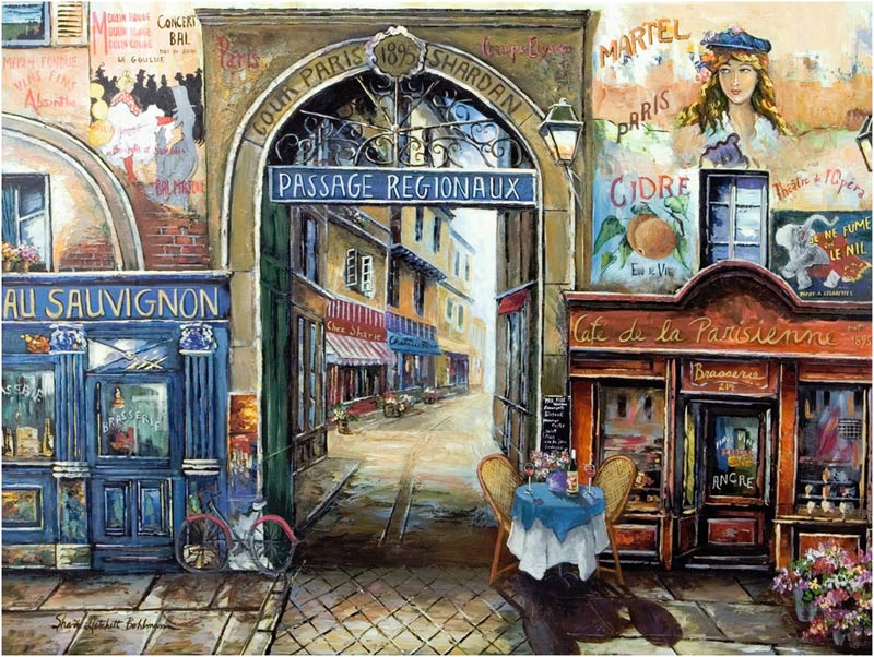 Passage to Paris Street Scene Jigsaw Puzzle