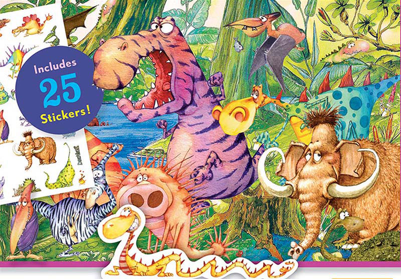 Sticker Puzzle - Dinoville Cartoons Jigsaw Puzzle