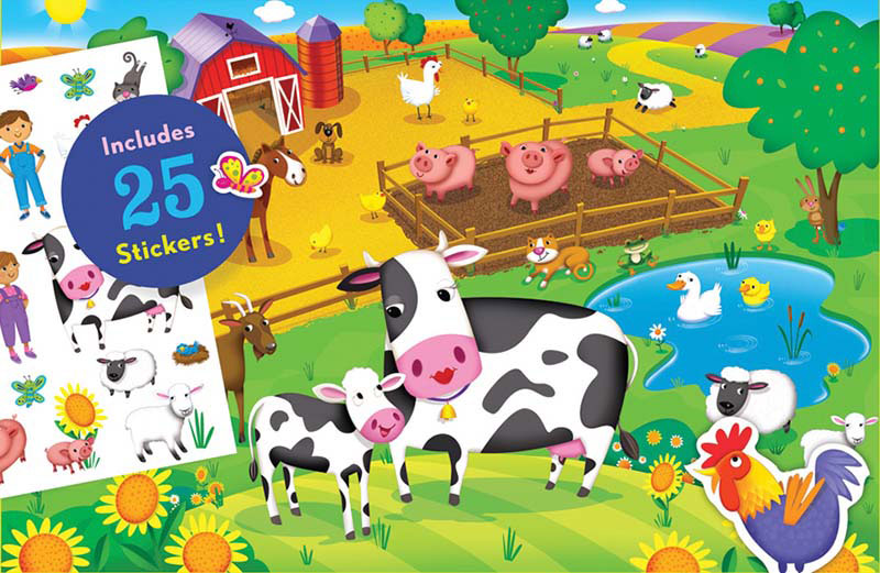 Sticker Puzzle - Farm Animals Farm Animals Jigsaw Puzzle