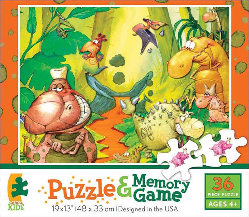 Memory Game Puzzle - Dinos Cartoons Jigsaw Puzzle