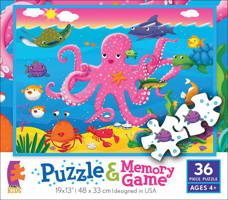 Memory Game Puzzle - Undersea Marine Life Game