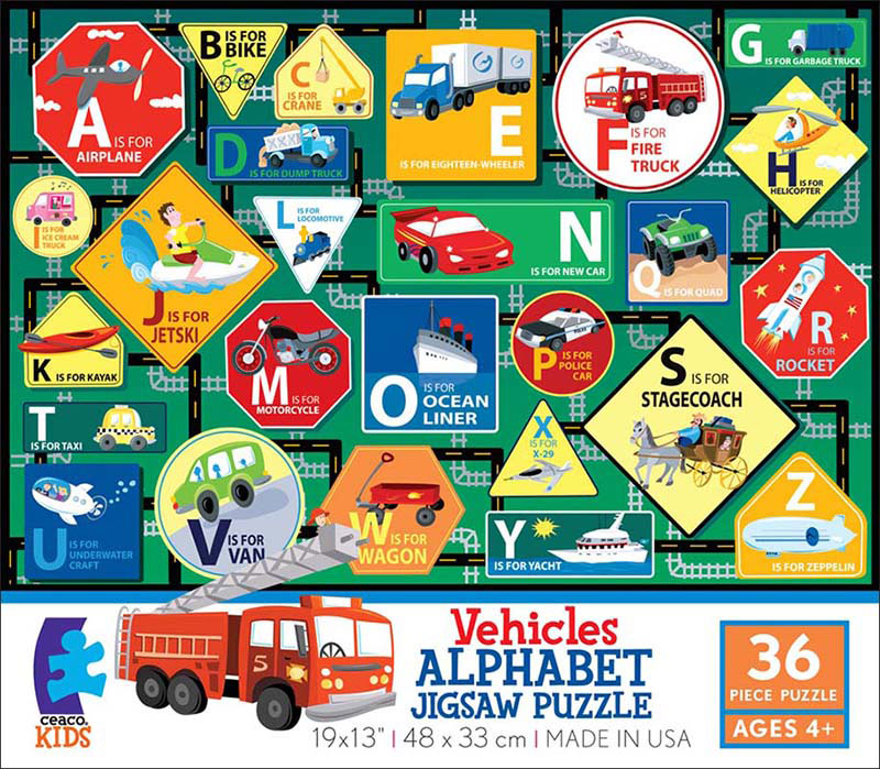 Alphabet - Vehicles Educational Floor Puzzle