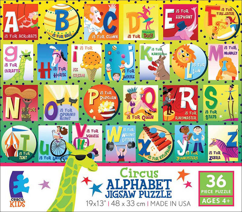 Alphabet - Circus Educational Floor Puzzle