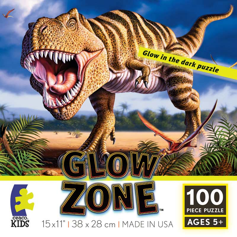 T Rex Glow Zone Glow In The Dark Puzzle