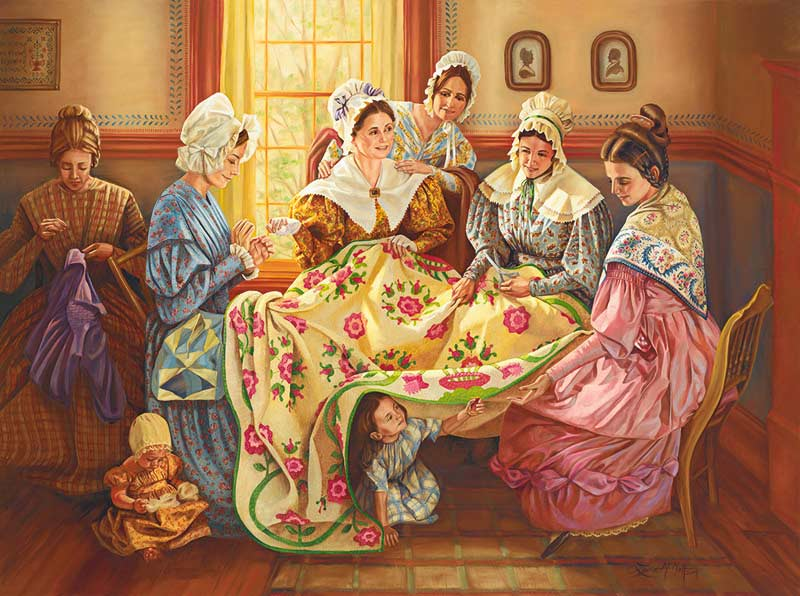 Ladies Quilting Day Jigsaw Puzzle