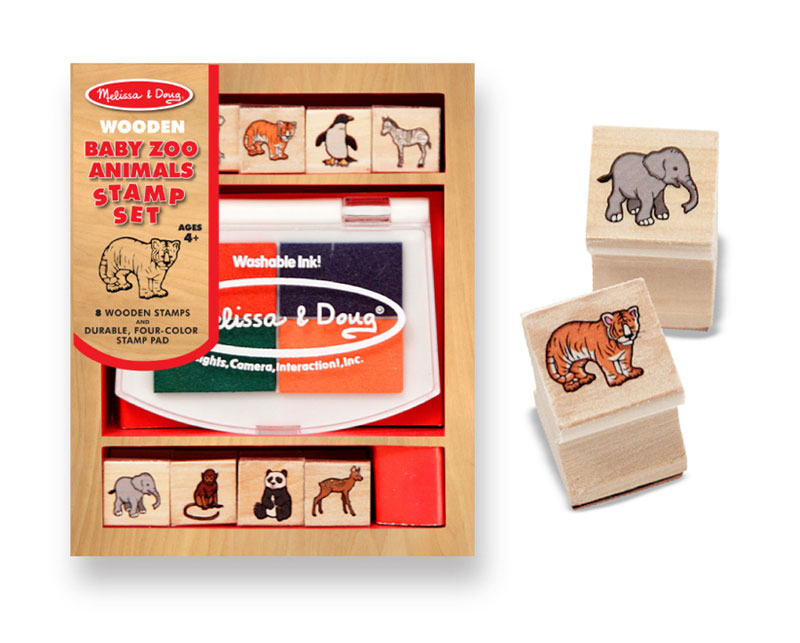 Baby Zoo Animals Stamp Set Arts and Crafts
