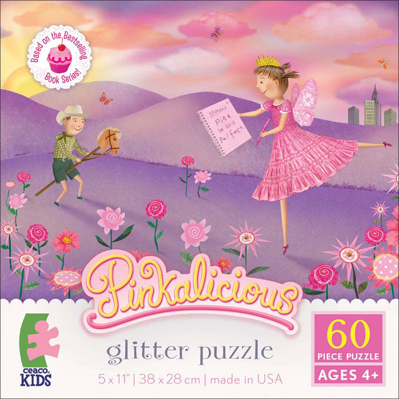 Glitter Puzzle - Pinkalicious Cartoons Glitter/Shimmer/Foil