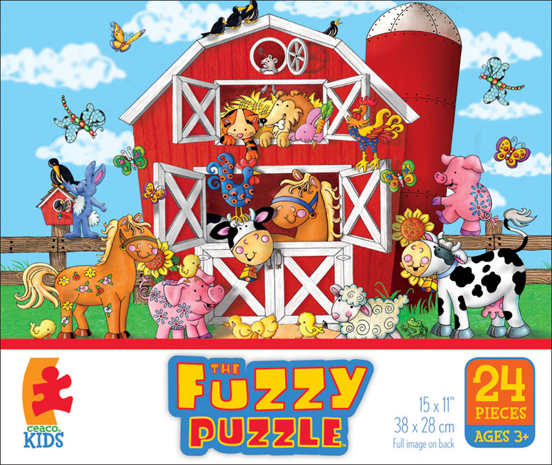Barnyard (Fuzzy Puzzle) - Scratch and Dent Farm Jigsaw Puzzle
