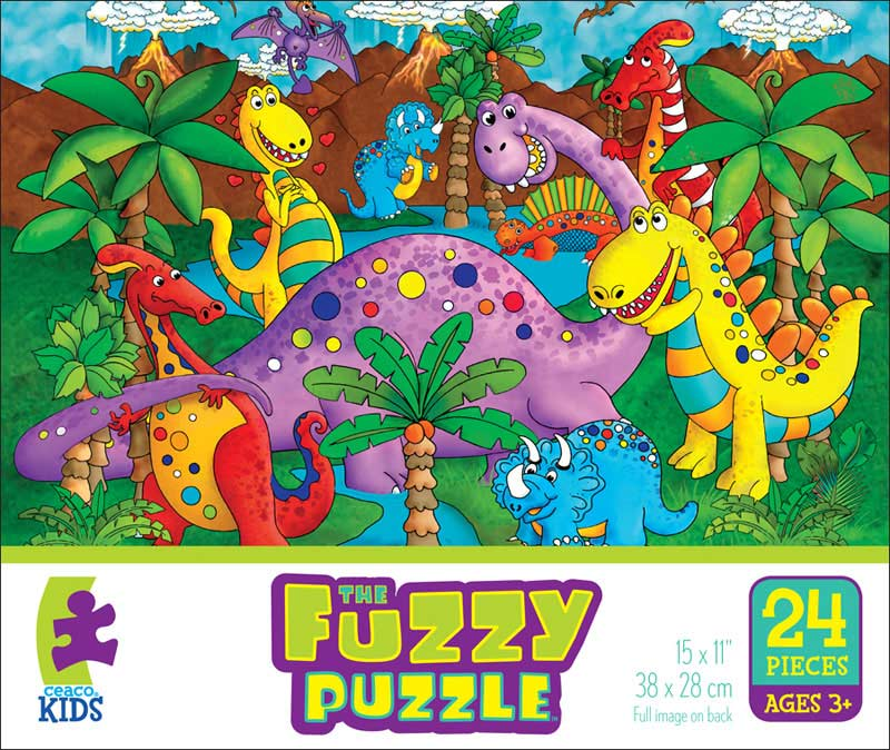 Fuzzy Puzzle - Dinos Dinosaurs Jigsaw Puzzle