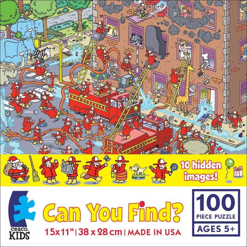 Can you Find? Firetrucks Cartoons Hidden Images