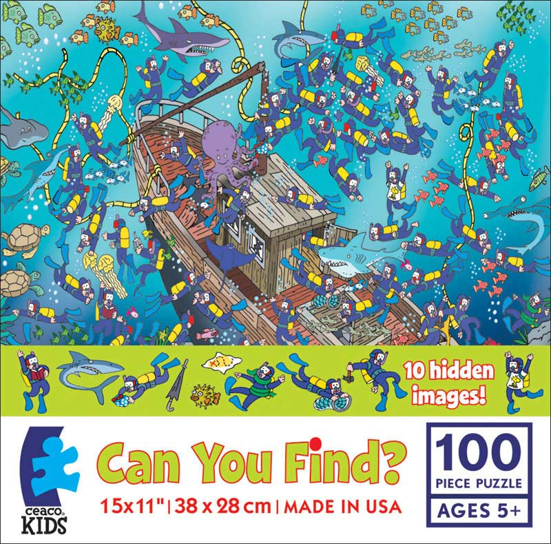 Can you Find? Ships Cartoons Children's Puzzles