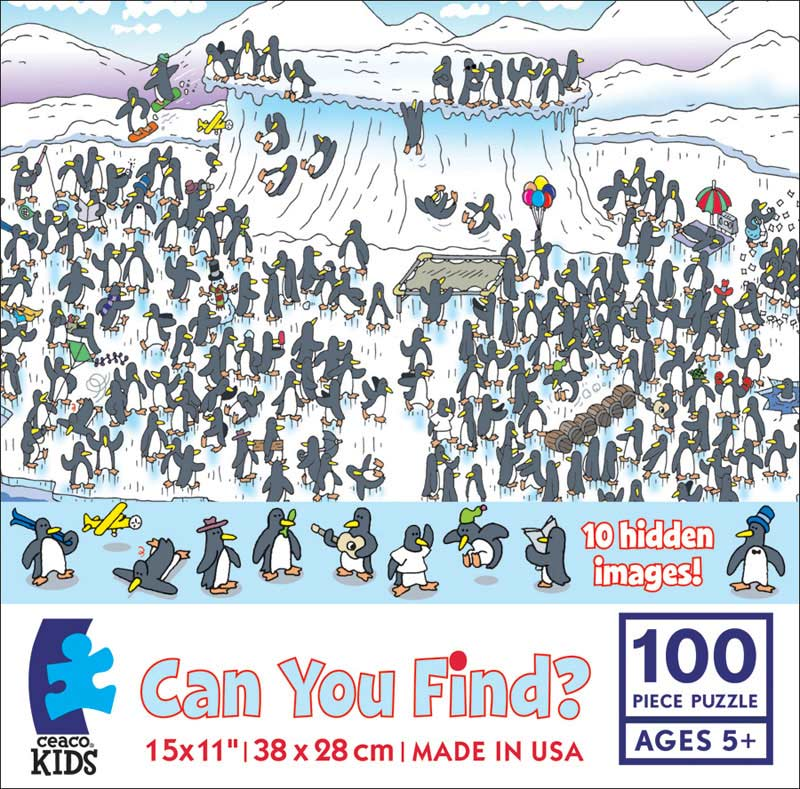 Can you Find? Penguins Cartoons Hidden Images
