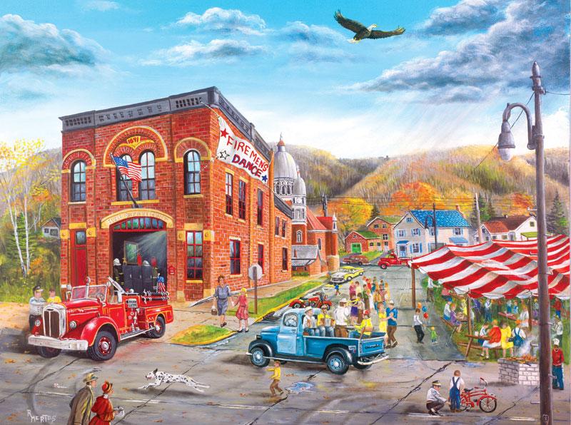 Fireman's Ball Americana Jigsaw Puzzle