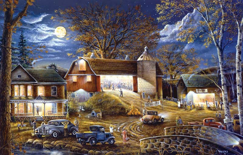 Barn Dance Tonight Farm Jigsaw Puzzle