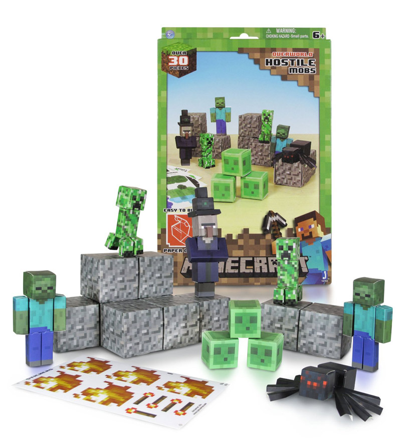 Minecraft Paper Craft - Hostile Mobs Set - Scratch and Dent