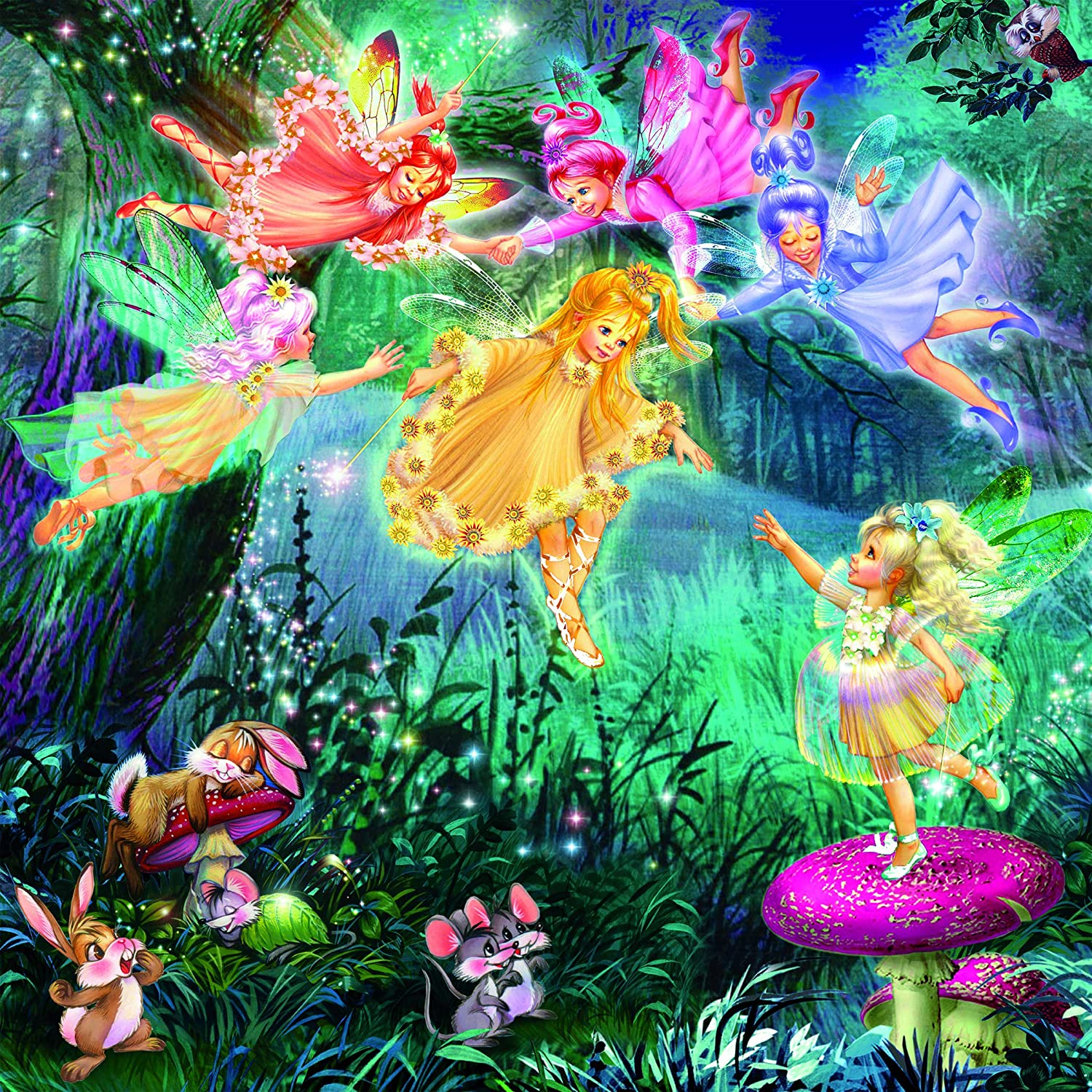 Fairy Ring Of Six (Glitter) Fairies Glitter / Shimmer / Foil Puzzles