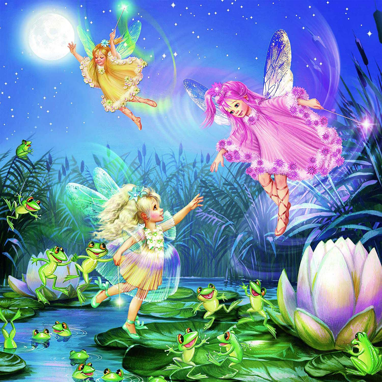 Fairies With Dancing Frogs (Glitter) Forest Glitter / Shimmer / Foil Puzzles