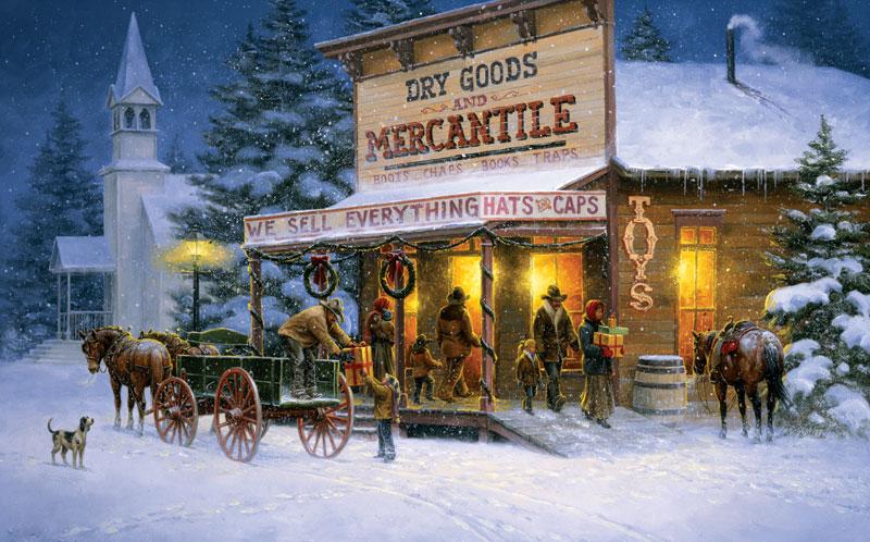 Shopping Spree Christmas Jigsaw Puzzle