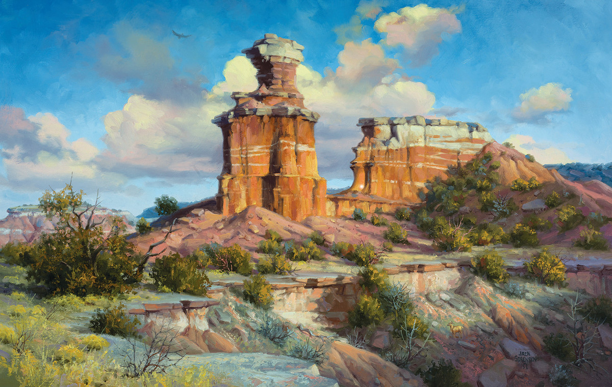 Sandstone Sentinel Landscape Jigsaw Puzzle
