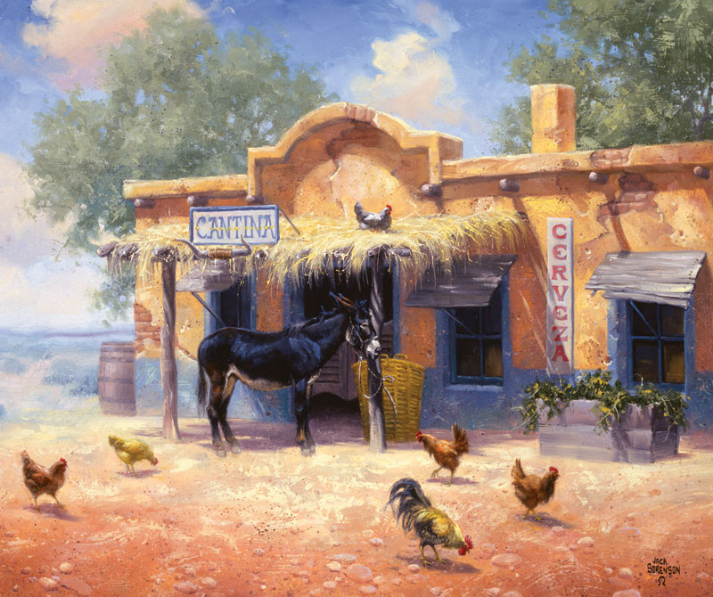 A Good Place to Roost Farm Jigsaw Puzzle