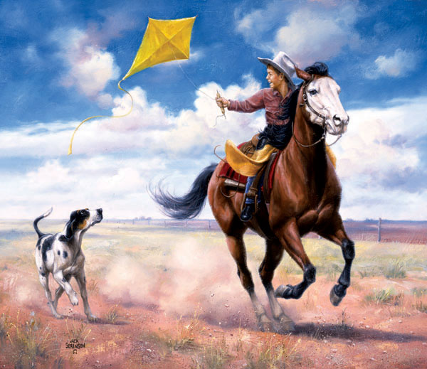 Ride Like the Wind Horses Jigsaw Puzzle