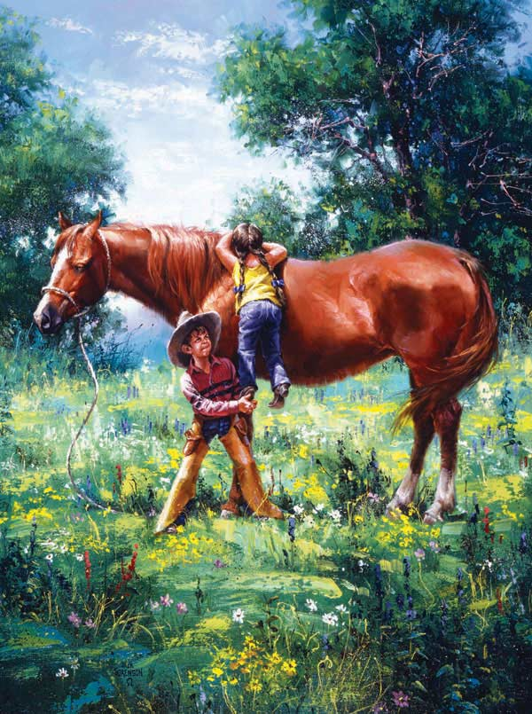 Why God Made Brothers Horses Jigsaw Puzzle
