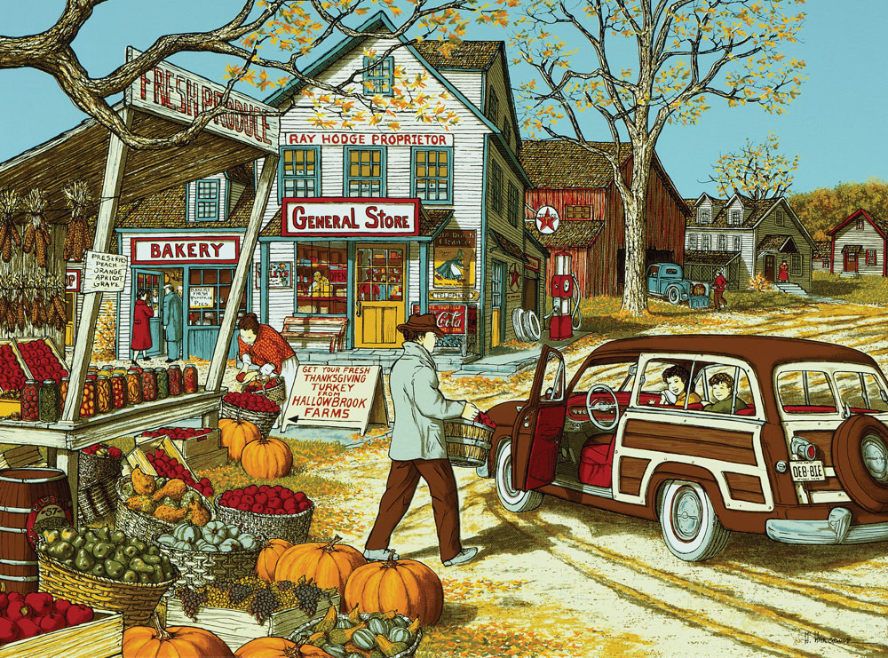 Going to Grandma's House for Thanksgiving Fall Jigsaw Puzzle