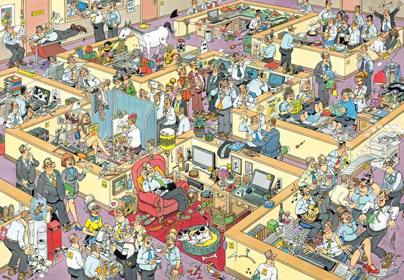The Office Cartoons Jigsaw Puzzle