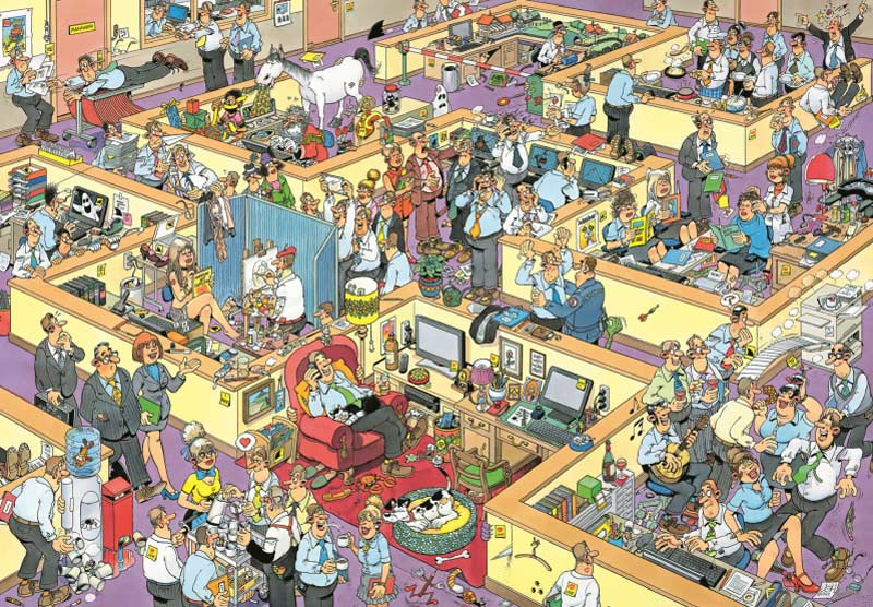 Jan Van Haasteren - The Office Cartoons Jigsaw Puzzle