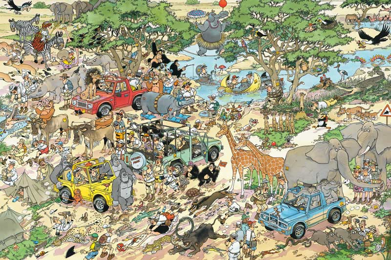 Safari - 3000 Cartoons Jigsaw Puzzle