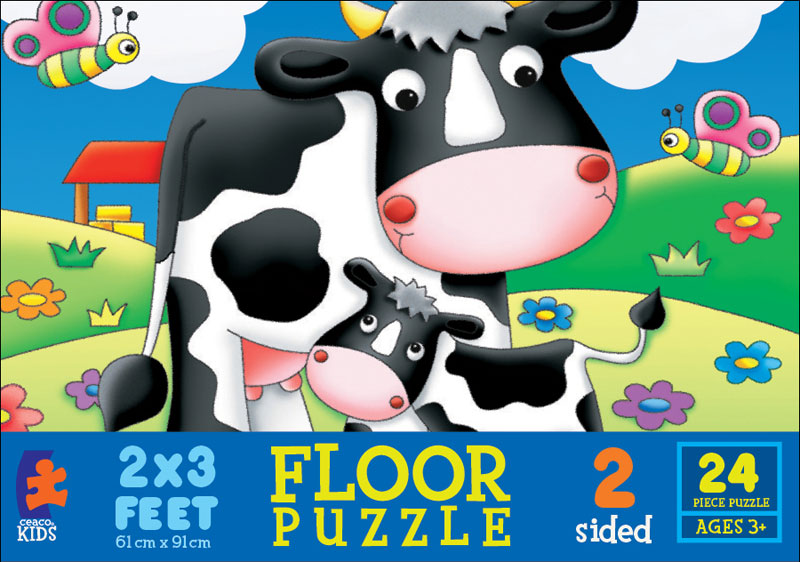 Floor Puzzle - Life on the Farm Cows Floor Puzzle