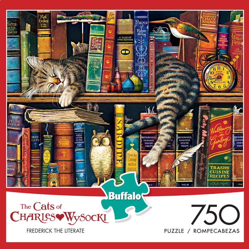 Frederick the Literate Cats Jigsaw Puzzle