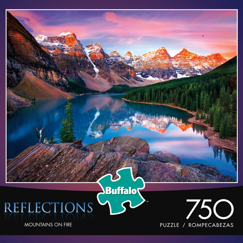 Mountains on Fire (Reflections) - Scratch and Dent Mountains Jigsaw Puzzle