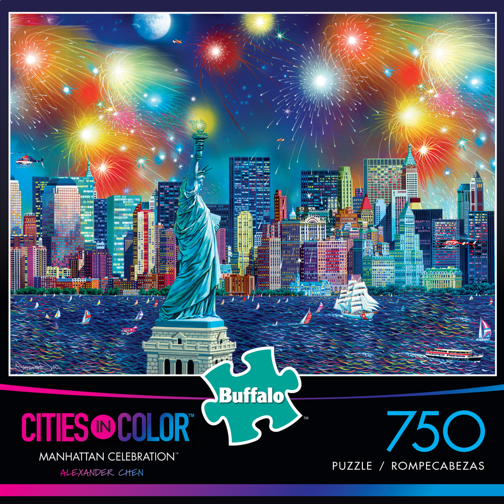 Manhattan Celebration Skyline / Cityscape Jigsaw Puzzle