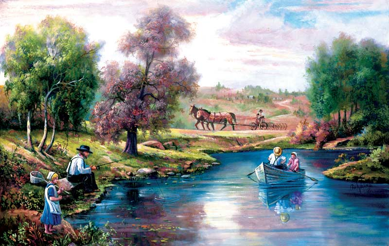 The Quiet Country Boats Jigsaw Puzzle