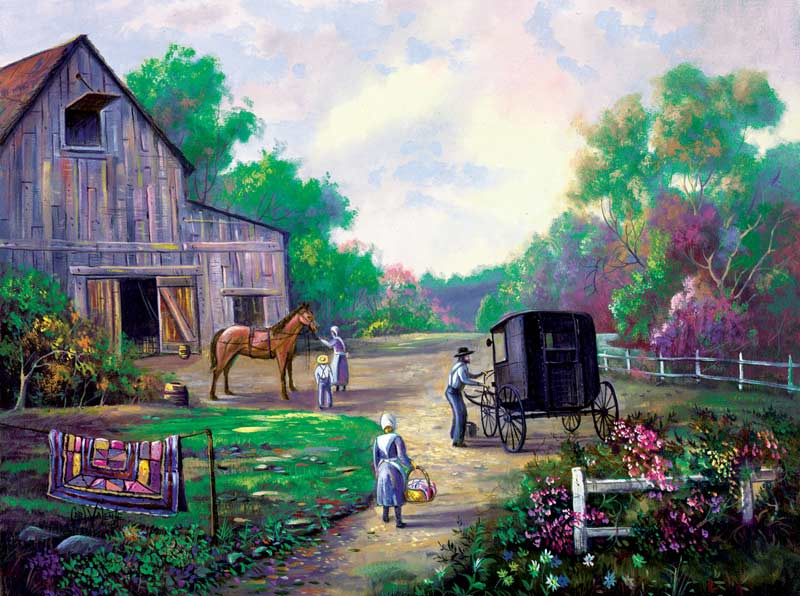 Family Outing Countryside Jigsaw Puzzle