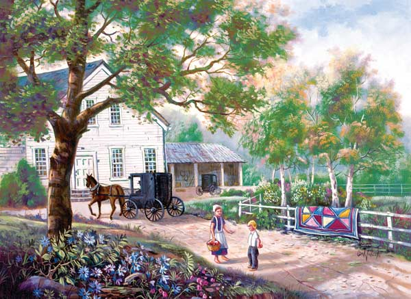 Amish Country Home - Scratch and Dent Countryside Jigsaw Puzzle