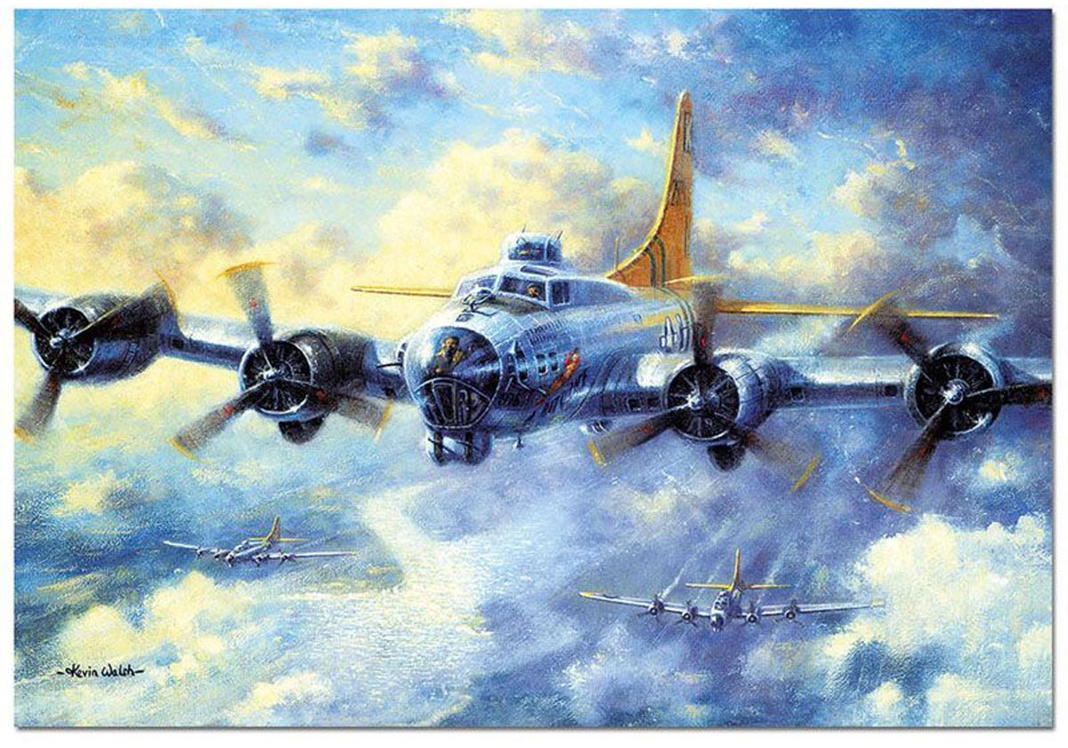 B17G Flying Fortress Planes Jigsaw Puzzle