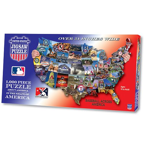 Mlb Baseball Across America Shaped Puzzle