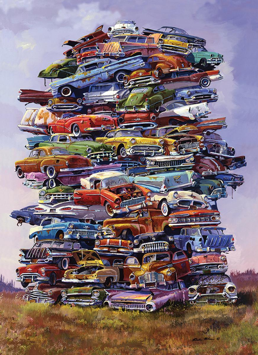 Fabulous 50s Junkpile Jigsaw Puzzle Cars Jigsaw Puzzle