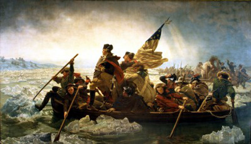 Crossing the Delaware History Wooden Jigsaw Puzzle